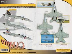 CAMP48015 1:48 CAM Pro Decals - F-18F Super Hornet VFA-2 Bou