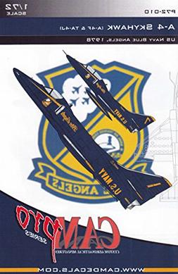 CAMP72010 1:72 CAM Pro Decals - A-4F TA-4J Skyhawk Blue Ange