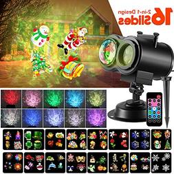 Christmas LED Projector Lights, 2-In-1 Ocean Wave Moving Pat