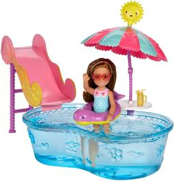 Barbie Club Chelsea Pool & Water Slide Playset