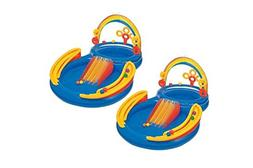 Intex Colorful Water-Splashing Inflatable Rainbow Ring Water
