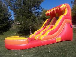 Commercial Grade Inflatable Water Slide Fire Marble 12 Feet