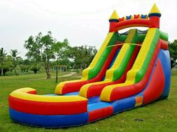 Commercial Grade Inflatable Water Slide Rainbow 15 Feet Tall