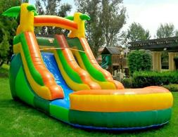 Commercial Grade Inflatable Water Slide Tropical 12 Feet Tal