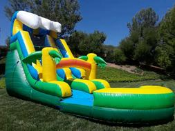 Commercial Grade Inflatable Water Slide Waterfall 15 Feet Ta