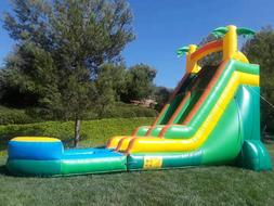 Commercial Grade Inflatable Water Slide Waterfall 18 Feet Ta