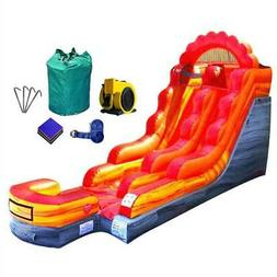Commercial Inflatable Bounce House  Water Slide Red Marble W