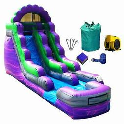 Commercial Inflatable Bounce House Wet Dry Purple Marble Wat