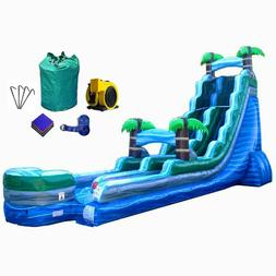 Commercial Inflatable Water Slide Blue Marble 22'H Single La
