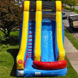Commercial Water Slide Kids Party Wet/Dry Inflatable Single