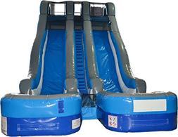 TentandTable Complete 24' Double Lane Water Slide - Wet or D