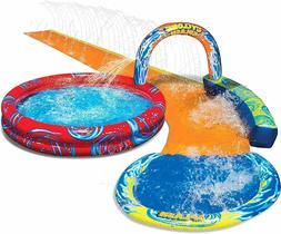 Banzai Cyclone Splash Park Inflatable Sprinkling Slide Water