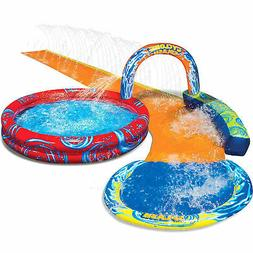 Banzai Cyclone Splash Park Inflatable with Sprinkling Slide