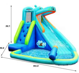 Cyclone Splash Park Inflatable With Sprinkling Slide And Wat