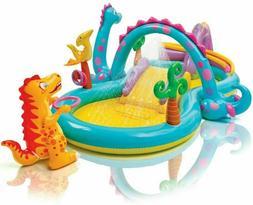 Intex Dinosaur Dinoland Inflatable Swim Play Center Kiddie P