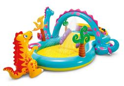 Intex Dinosaur Dinoland Inflatable Swim Play Center Kiddie B