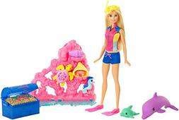 Barbie Doll Ocean Dolphin Play Set Treasure Chest Kids Toddl