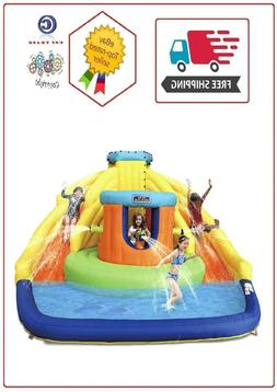 Double Water Slide Bounce House Wading Swimming Pool Party W
