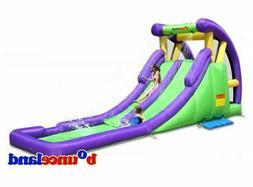 Bounceland Double Water Slide w/ Splash Pool #9029