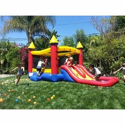 JumpOrange 19' x 10' Kiddo Castle Bounce Play House Backyard