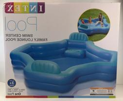 Intex Family Swim Center Lounge Pool Inflatable 2 Seat Outdo