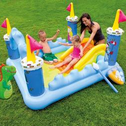 Intex Fantasy Castle Inflatable Swimming Pool Water Slides K