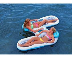 Floating Pool Lounges 2 Person Double Water Floating Tube In