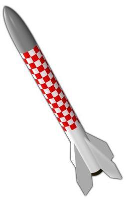 Semroc Flying Model Rocket Kit Micron KV-8