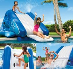 giant inflatable kids water slide outdoor pool