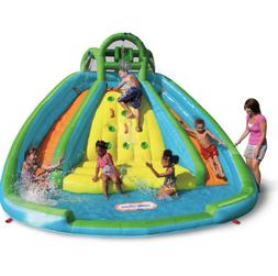 Little Tikes Giant Kids Inflatable Rock Climbing Water Slide