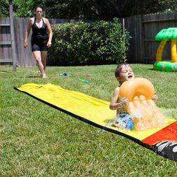 giant surf n water slide fun lawn