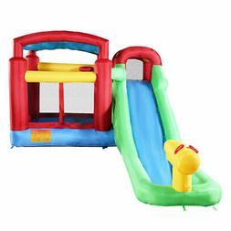 Goplus Inflatable Moonwalk Water Slide Pool Bounce House Jum