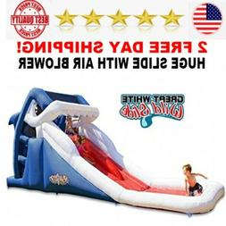 Blast Zone Great White Wild Inflatable Water Slide for kids