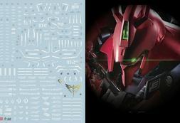 Gundam water slide decal SIMP sticker C22 RG Sazabi