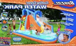 💦 Banzai Gushing Geyser Inflatable Water Park Slide Pool.