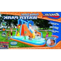 Banzai Gushing Geyser Inflatable Water Park Slide Pool - Bra