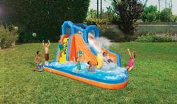 gushing geyser inflatable water park slide pool