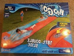 h20 go double slip and slide aqua