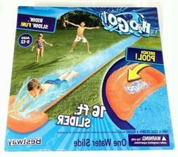 H20 Go Inflatable Lawn Water Slide Single 16Ft Slider Drench