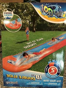 H2O GO! Double Water Slip and Slide By Bestway Brand New 18f