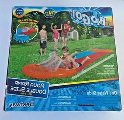 Bestway H2OGO! 18 Foot Long Aqua Ramp Double Water Slide Wit