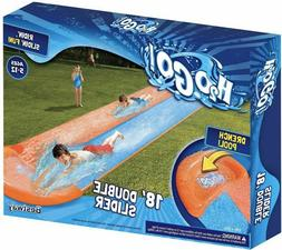 H2OGO! 18ft Double Lane Water Slip n Slide Outdoor Fun Summe