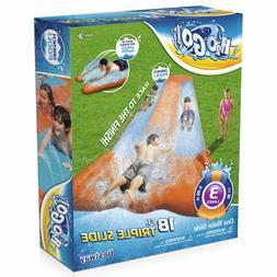 BESTWAY H2OGO 18FT Kids Triple Water Slide w Speed Ramp and