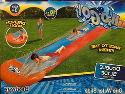H2OGO! Double Water Slip and Slide 18 ft.  with Drench pool