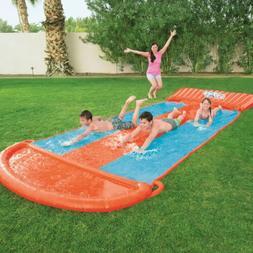Bestway H2oGo Outdoor 18ft Triple Lane Water Slide w/ Speed