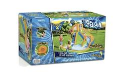 H2OGO Pool Water Park 18ft Tall Bonzai Slide Inflatable Blow