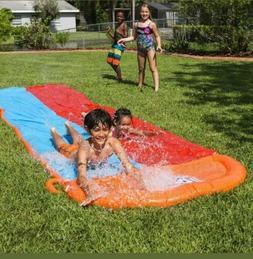 H2OGO! Water Slide Long 18ft Double Slider Kids Toy Mat Spla