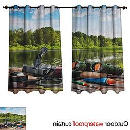 Hunting Outdoor Curtain for Patio Fishing Tackle on a Pontoo