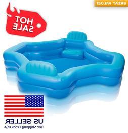 Intex Inflatable 2-Seat Swim Center Family Lounge Pool  ✅S
