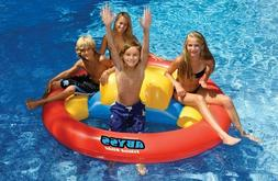 Swimline Inflatable Abyss Island Slide Swimming Pool Float R